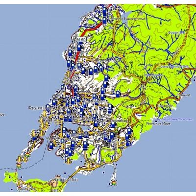 Обновление топографической карты Приморского края